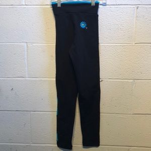 margarita Pants - Margarita black & blue leggings sz 1  59222